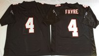 Wholesale 4 Brett Favre Michael Vick Deion Sanders Name And Number Are Stitched Mens Throwback Football Jerseys M XL
