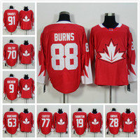 team canada jerseys - Complete Logo Name Team Canada World Cup Ice Hockey CROSBY TAVARES BURNS HOLTBY TOEWS White Jerseys HOT