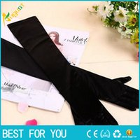 Wholesale New Fashion Stretch Satin Long Gloves for Women Evening Party Opera Gloves Women Brand Fashion Apparel Accessories for Lady