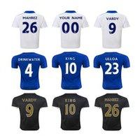 La calidad de Tailandia! 15-16 Temporada Leicester City hogar lejos de fútbol Traje de fútbol jerseys 4 DRINKWATER 23 ULLOA 24 DYER 26 mahrez 9 Vardy