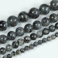 Wholesale Natural Black Larvikite Round Gemstone Loose Beads quot mm