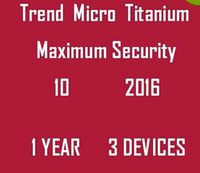 1years1PC Antivirus & Security Internet Trend Micro Titanium Maxmium Security 10 2016 2017 1 YEAR 3 PCS Legitimate And Genuine License Key Code