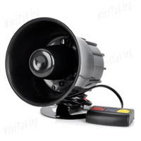 Wholesale 30W Sound Loud Security Alarm Siren Horn Speaker Black for Motorcycle car modification order lt no track