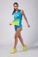 Wholesale new women running collectionsboys girls tracksuits Athletics garment marathon suits iaaf field sport suit vest breathable