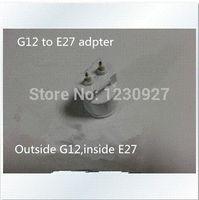 Wholesale new design G12 to E27 conversion lamp holder converters G12 turn E27 converter lamp adapter