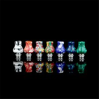 Wholesale Colorful tophus Drip Tip Turquoise Stianless Steel jade Drip Tip Short paragraph Beautiful Tophus Stone Drip Tips Mouthpiece DHL Free