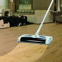 venda por atacado electric mop-Atacado-Electric Robot Cleaner 2 em 1 giratória Cordless Arraste Varrendo All-in-one Máquina casa Automatic Mop limpeza vassoura elétrica