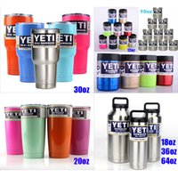 Wholesale Hot Sale Rambler Tumbler oz oz oz oz color YETI Cups Cars Beer Mug Large Capacity Mug Tumblerful with Lip