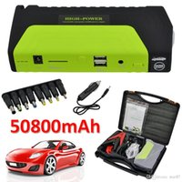 Wholesale 50800mAh V Portable Car Jump Starter Mini Car Battery Engine Starter Booster Emergency Power Bank Battery Source Pack Charger DHL Free