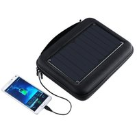 Wholesale Hard Shell Carrying Case with mAH Solar Panel Charger for GoPro Hero Smartphone