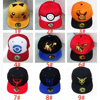 Casquillo negro España-Liebre del sombrero de béisbol del casquillo del monstruo cosplay Negro amarilla novedad de la historieta Pikachu empuje Ir Sombrero encantos Complementos Disfraz gorra de béisbol XL-P202