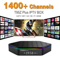 arab media - Octa Core Android Arab IPTV BOX T95ZPLUS Free Europe Arabic IPTV Channels S912 GB GB TV Box KODI WIFI H265 Media Player