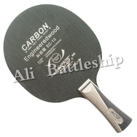 Wholesale 2016 Galaxy Table Tennis PingPong Pure Wooden Base Racket Inorganic Professional Tennis de Table Fast Attack Blades EC