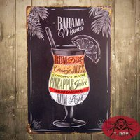 bahama cocktail - quot Bahama Mama Cocktail quot Metal Tin Signs Bar Pub Wall Stickers Decor Iron Retro Tin Metal Signs Plaques