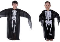baby skeleton costume - 2016 fashion Skeleton skeleton ghost costume party dress baby cosplay costumes funny children s halloween gift baby unisex Party supplies
