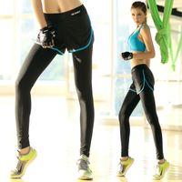 Wholesale 2016 New Women Fitness Yoga Pants Sports Running Trousers Dry Quick Elastic Shorts Leggings Female Slim Joggings