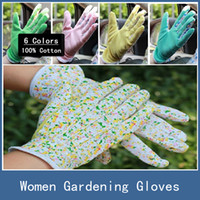 Wholesale 10 Pairs New Full Cotton Antiskid Personal Workplace Safety Soft Jersey Women Gardening Working Gloves Colors