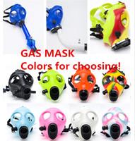 Cheap Gas Mask Mask Hookah smoking mask Gas Mask Water Pipes Sealed Acrylic Hookah Pipe Bong Filter Smoking Pipe