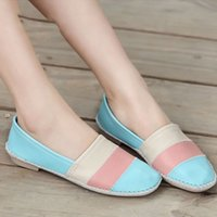 ballerina flats for women - 2016 ballerina flats for women loafers shoes woman casual slip on genuine leather shoes moccasins ballet shoes women oxfords
