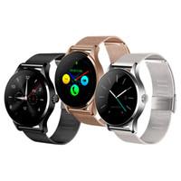 battery tests - Wearable Smart Watch MTK2502C inch IPS Round Capacitive Screen mAh Battery Pedometer Sleep Test Bluetooth Wrist Watch K88 Black Gold
