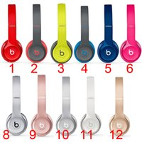 Wholesale 2016 Beats Solo2 Bluetooth Headphone Active Collection HD Stereo Wireless Mobile Cellphone Solo Earphone Headset Used Refurbished