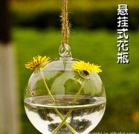 balls handicraft decorative - glass vase haning Creative glass ball ornaments hanging moss bottle micro landscape container simple hydroponic decorative handicrafts