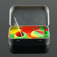 Wholesale silicone wax kit container set dab tool ml food grade non stick silicone inner DHL free S