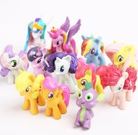 Wholesale 100pcs My little pony Loose Action Figures toy For Children Gift Very Cute Cartoon Action Figures