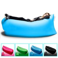 Wholesale 2016 Hot Fast Inflatable Sofa Hiking Air Sleeping Bag Camping Bed Beach Hangout Lay Bag cm