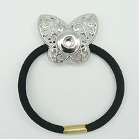 Wholesale New Fashion New Rhinestone Butterfly Apple Flower Snap metal headband fit mm DIY snap buttons