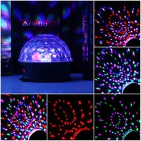 Wholesale Hot Colors LED Crystal Magic Ball Effect Light Disco DJ Stage Party New