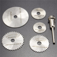 Wholesale 6pcs HSS Saw Blades Circular Saw Blades Mandrel Cutter Rotary Tool for Dremel