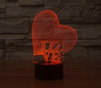 Wholesale AA battery operated baby d night light Christmas Decor Gifts Motion sensor Heart Alec board led night light