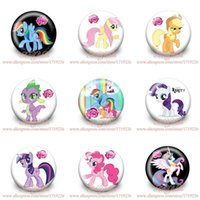 accessory pinback button - My Little Ponies PVC Pin Badge Holder pinback Buttons cm Backpack Accessories Cartoon badge Party School Supplies