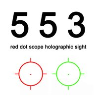Wholesale Tactical airsoft Holographic sight Red Green Dot reflex Sight red dot Scope for rifle scope for hunting black