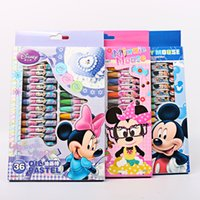 Wholesale Authentic Mickey Minnie Color Pastels Safe non toxic Quality crayon Child student painting crayon
