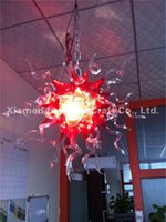 artist red - Modern Art Home Decoration Infinity Lights Artist Made Hand Blown Glass Chandelier Amber and Red Modern Crystal Lamps
