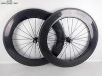 Wholesale Hard wearing mm carbon wheels clincher road bike wheelset year warranty UD matte glossy OEM painting