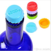 Wholesale New idea silicone bottle cap wine cap Silicone Beer Wine Savers bag mix colorZ0y0126