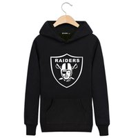 Wholesale Casual Autumn Winter Sports Hoodies - 2016 Autumn Winter Fleece Casual Unisex Hoodies Sweatshirt Raiders Rugby Team Cool Hip Pop Pullover Mens Sportwear Coat Jogger Sport