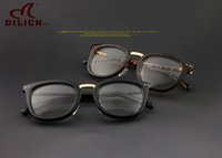 Wholesale DILICN Vintage Men women Round Prescription plank Glasses Frame Johnny Depp Brand Myopia Eyeglasses Optical Frame Armacao De Oculos