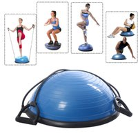 balance ball workouts - New Yoga Ball Balance Trainer Yoga Fitness Strength Exercise Workout w Pump Blue