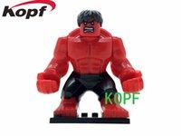best big block - KF039 Avengers CM Big Red Hulk Minifigures Building Blocks Super Heroes Assemble Building Blocks Toy Action Model Best Toys Mini Figures