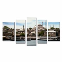art modes - LK5144 Panels Oil Painting Mosque Istanbul Islam Turkey Picture Print On Canvas Modern Wall Art Animal Pictures Prints On Canvas For Mode