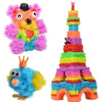 Wholesale 2017 Magic Puffer Ball set Accessories Buildnew Mega Pack Animals DIY Assembling Best Block Toy Sets Gift For Children EMS ship