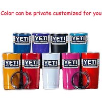 beer red - Color Mug OZ Yeti Cups Cooler Stainless Steel YETI Rambler Tumbler Cup Car Vehicle Beer Mugs Double Wall Bilayer Vacuum Insulated