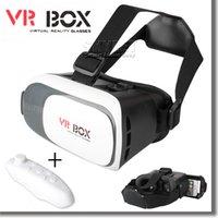 al por mayor games for mobile phone-VR caja de realidad virtual en 3D Gafas Gafas y Bluetooth Gamepad Juega a juegos en 3D para el teléfono móvil androide para Iphone con el paquete al por menor