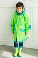 Wholesale 2016 Kids children Raincoat Rainwear Rainsuit Waterproof kid Animal Raincoat poncho Funny Rain Coat