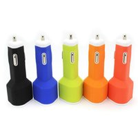 Car Chargers universal universal Newest Top 5V 2.1A Dual USB Soft Silicon Triangle Type Car Charger For Mobile Phone Cellphone Ipad Pass CE FCC ROHS