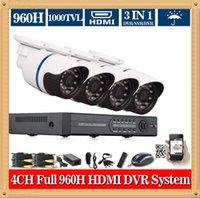 Kits de surveillance LED Array Home Security de CIA- 4CH CCTV système 960H HDMI DVR 1000TVL Extérieure Caméra vidéo